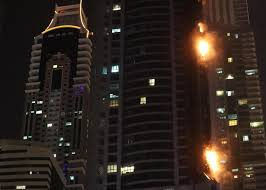 A massive fire has broken out at Dubai's 1,105ft tall Torch Tower.
