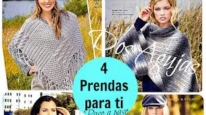 Ponchos, Chaleco y Bufanda Dos Agujas / Paso a paso