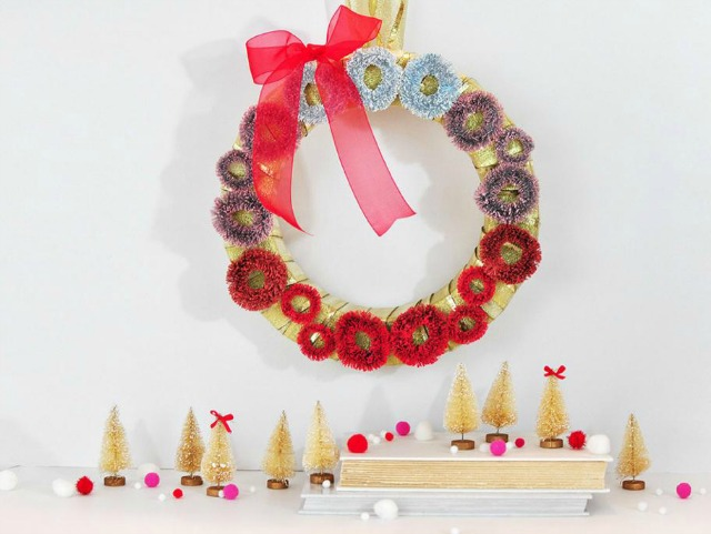 DIY Ombre Christmas Wreath