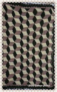 crochet blanket, illusion blanket