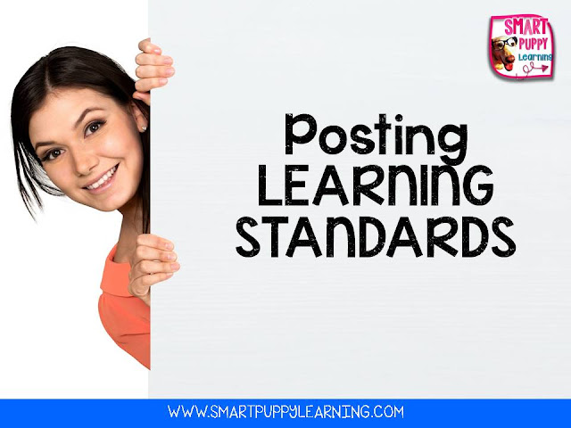 how to post your learning standards for your district or campus