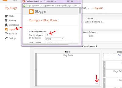 Page navigation in blogger