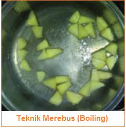 Teknik Merebus (Boiling) - Teknik Pengolahan Pangan Panas Basah (Moist Heat)