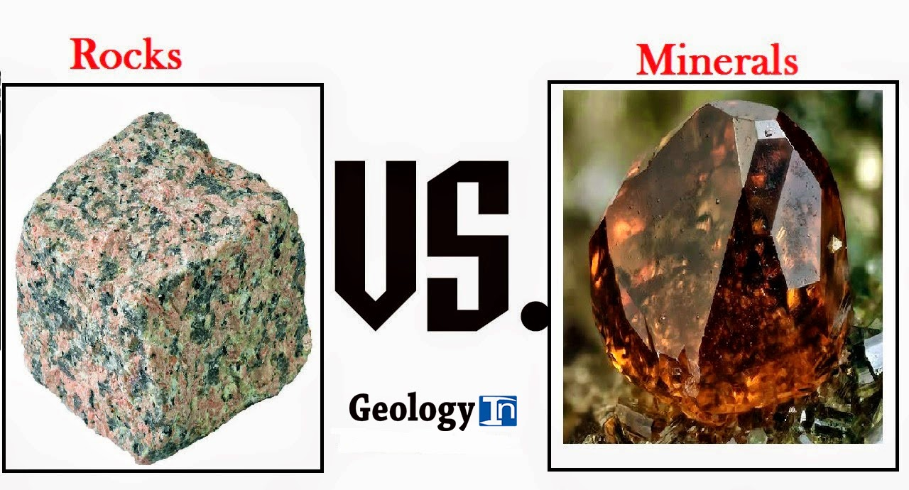 The difference between rocks and minerals for What s a solid