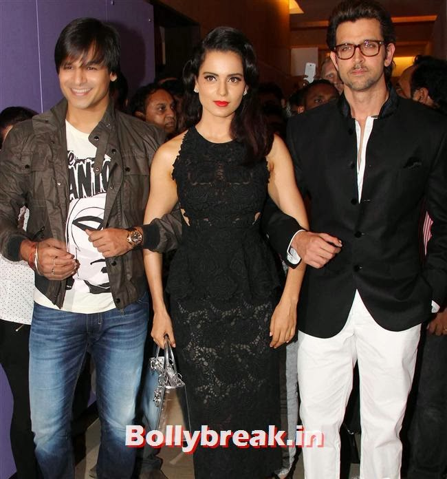 Vivek Oberoi, Kangana Ranaut and Hrithik Roshan, Halloween Party to Promote Krrish 3