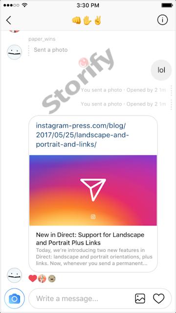 Instagram Dm den link paylaşma