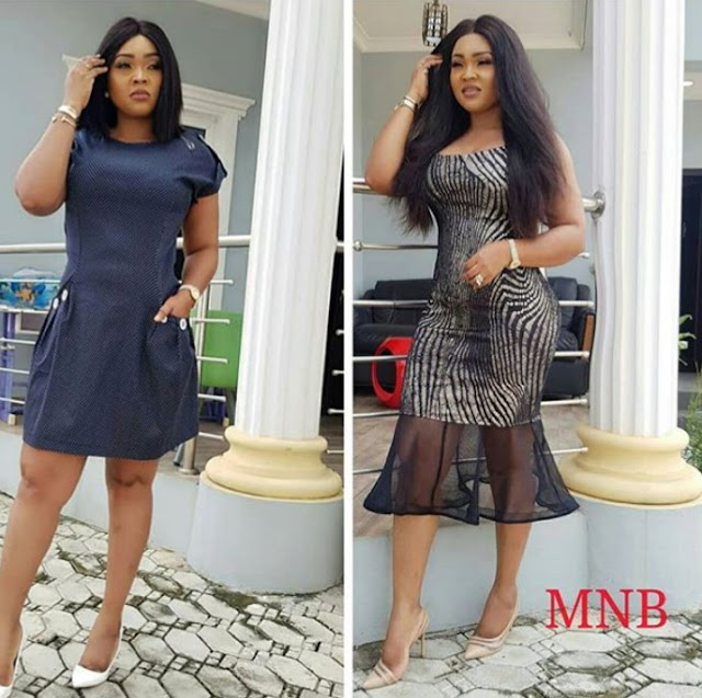 "Nollywood Actress ""Mercy Aigbe"" Finally Fixed Her Mansion Bend Pole...Trolls Reacts"