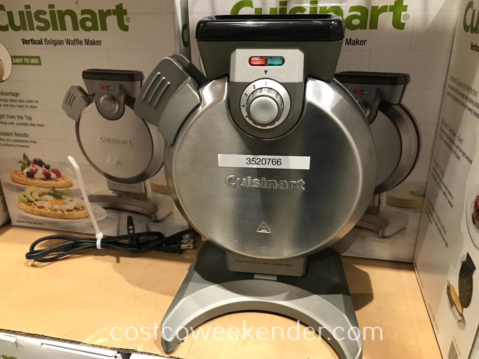 Costco 3520766 - Prepare a warm breakfast with the Cuisinart Vertical Belgian Waffle Maker