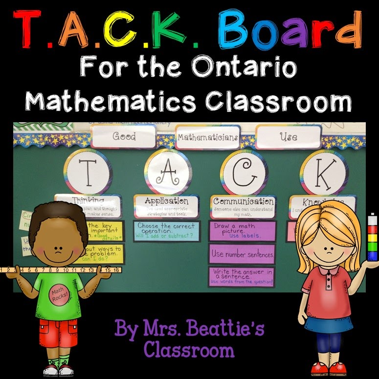 Wondering how to set up your learning goals and success criteria in your mathematics classroom? Take a look at this TACK board! Aligned with the Ontario Mathematics curriculum, but easily adapted, this menu board is something your students will actually use!