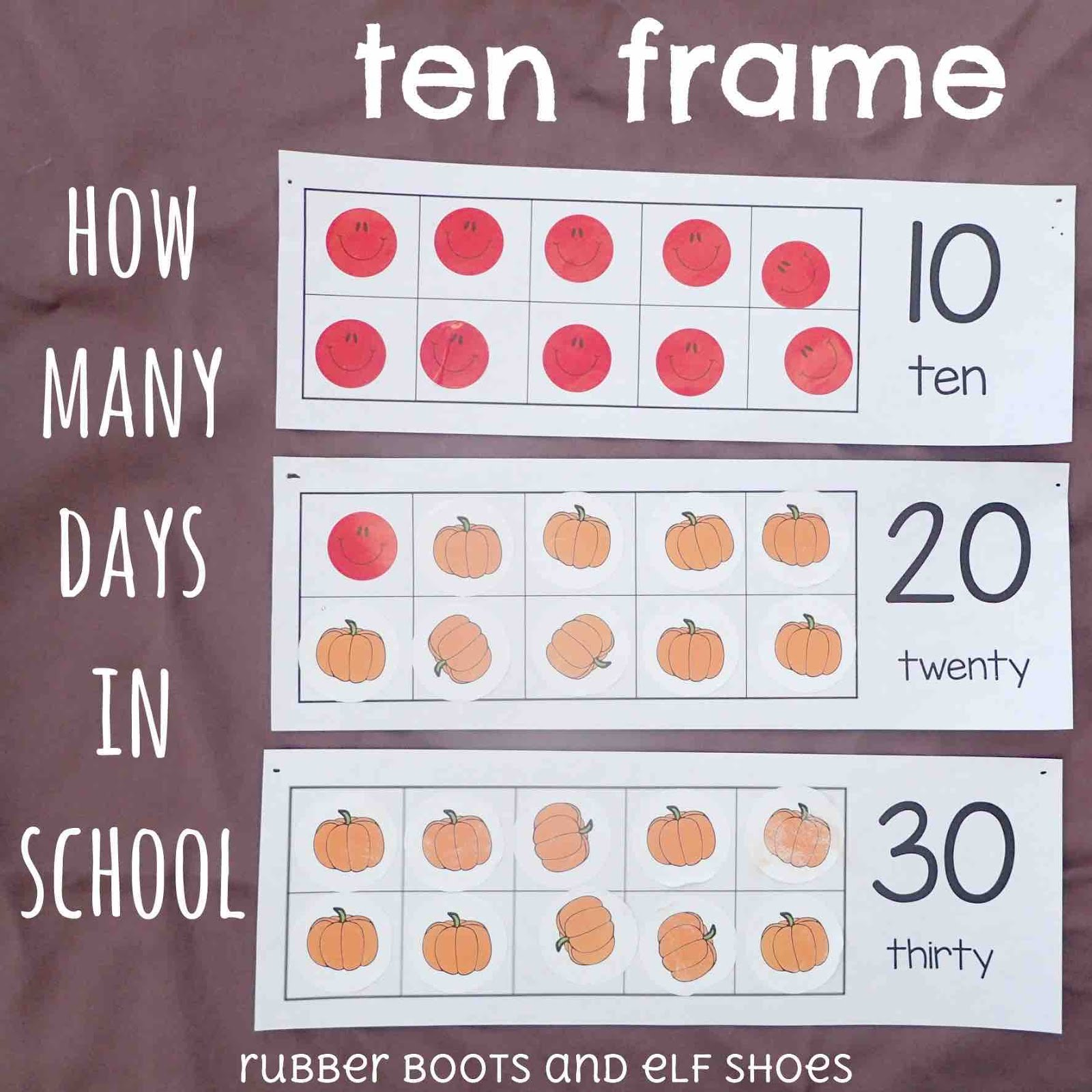 Counting School Days On A Ten Frame