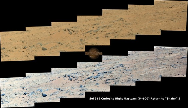 "Sol 312 Curiosity Right Mastcam (M-100) Return to ""Shaler"" 2"