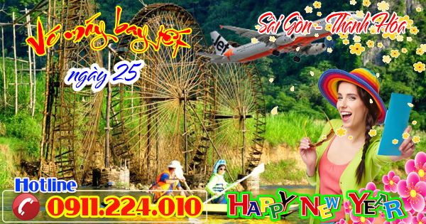 bán vé máy bay Sài Gòn đi Thanh Hóa ngày 25 tết Jetstar
