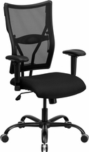 Big and Tall Mesh Back Office Chair with Adjustable Arms