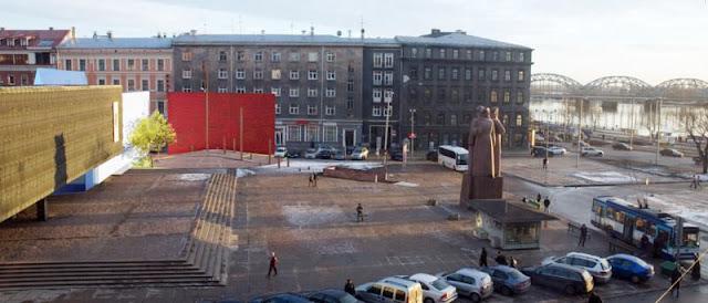 """Очередной проект """"модернизации"""" площади Латышских стрелков."""
