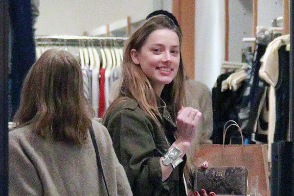 Amber Heard and Johnny Depp on daughter shopping in Hollywood