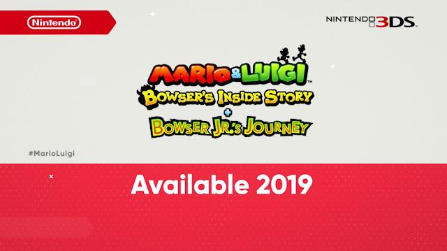 Mario & Luigi Bowser's Inside Story + Bowser Jr.'s Journey Nintendo 3DS remake logo