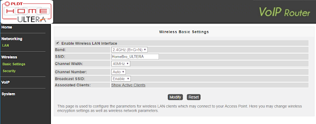 How to change converge wifi password