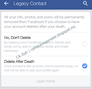 Delete after death