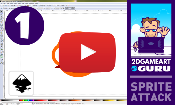 Back to the basics - video tutorial using circles in inkscape | 2D Game Art for Programmers
