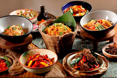Source: 21 on Rajah. A selection of dishes from the Rijsttafel weekday lunch buffet.