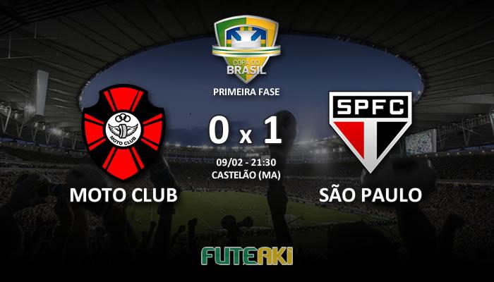 Veja o resumo da partida com os gols e os melhores momentos de Moto Club 0x1 São Paulo pela Primeira Fase da Copa do Brasil 2017.