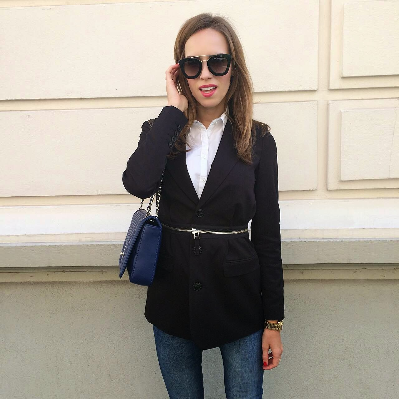 kristjaana mere instagram business causal outfit munich