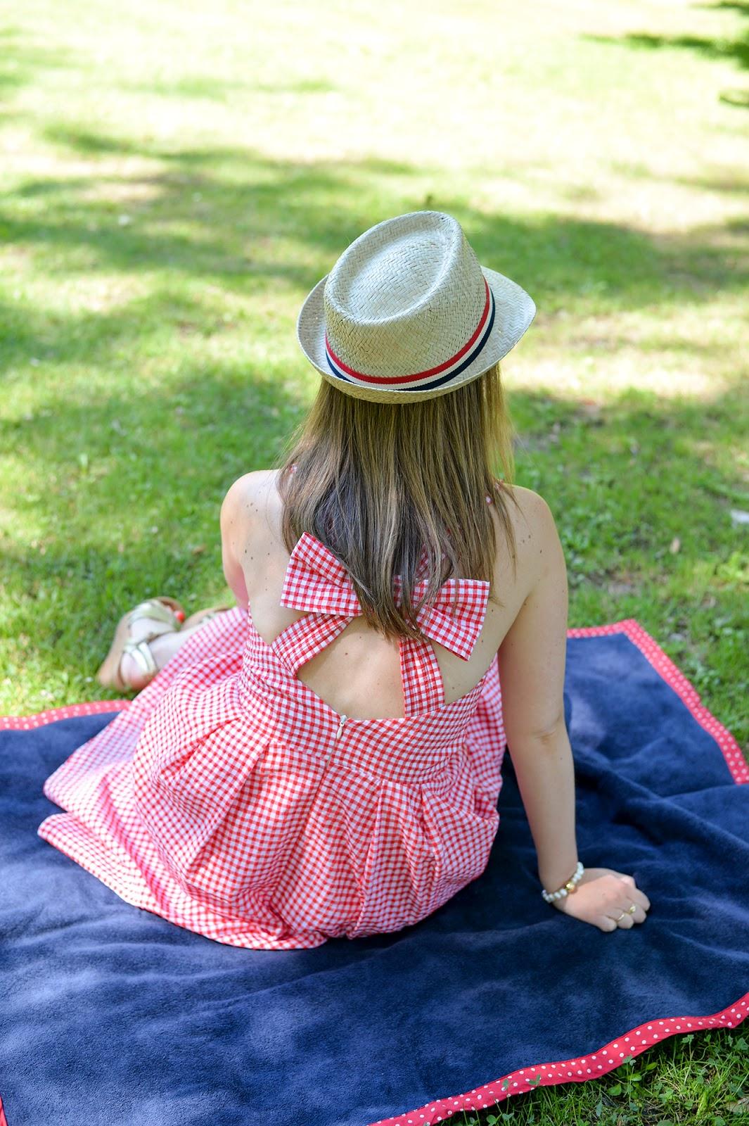 midi gingham dress bow ricky claudie pierlot summer vacation