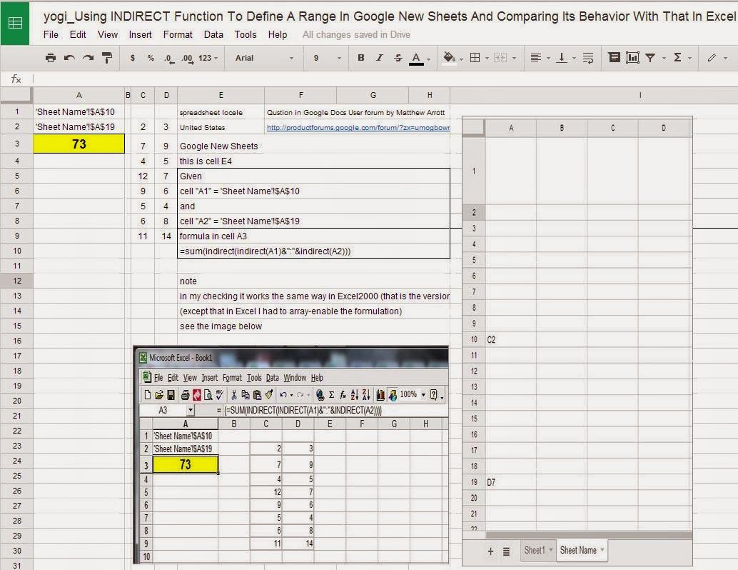 Cloud Computing -- Google Docs Way: yogi_Using INDIRECT
