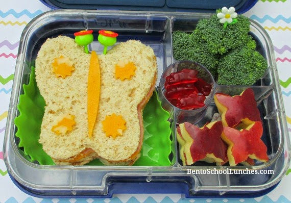 Butterfly bento school lunch, yumbox panino