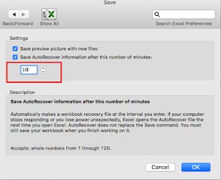 Mac Office 2011 üzerinde otomatik kaydetme