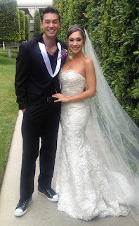 Diana DeGarmo's Wedding Dress celebrity