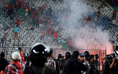 حبس 8 من ألتراس أهلاوى 15يوما بأحداث شغب مباراة مونانا