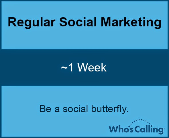 Regular Social Marketing: ~1 Week