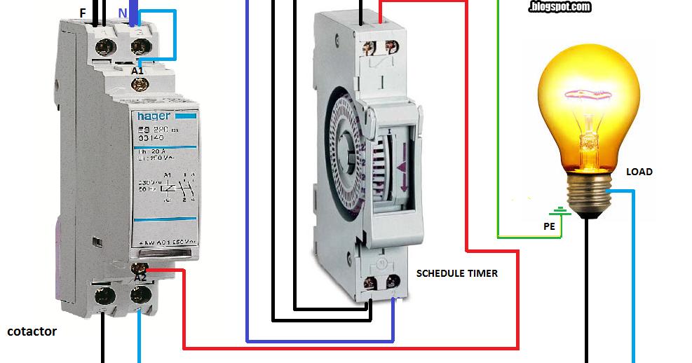 wiring diagram single pole contactor with timer  kawasaki
