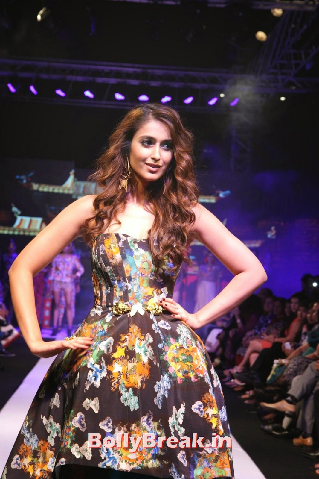 Ileana Photo Gallery, Ileana  in without sleeve dress hot pics Ramp Walk At Madame Style Week