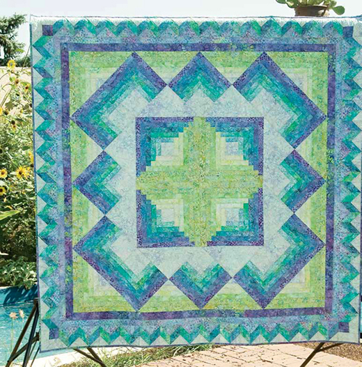 Caribbean Blue Quilt Free Pattern