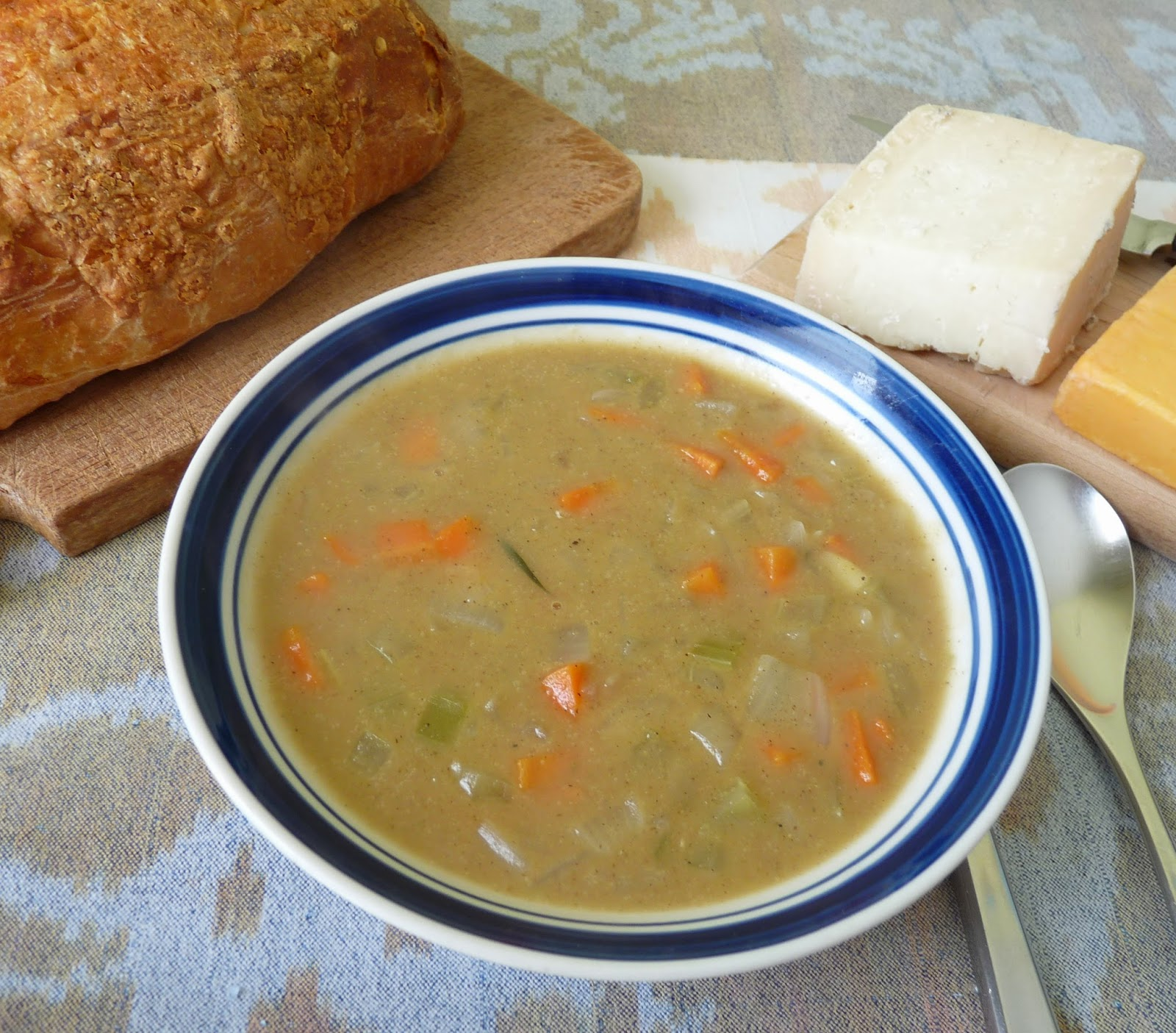 Toasted Barley Flour Soup with Vegetables