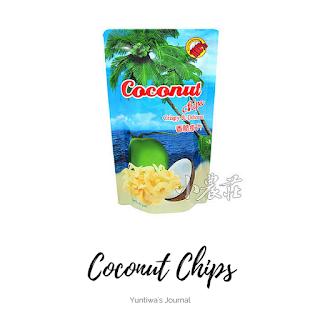 oleh-oleh makanan ringan khas thailand - coconut chips