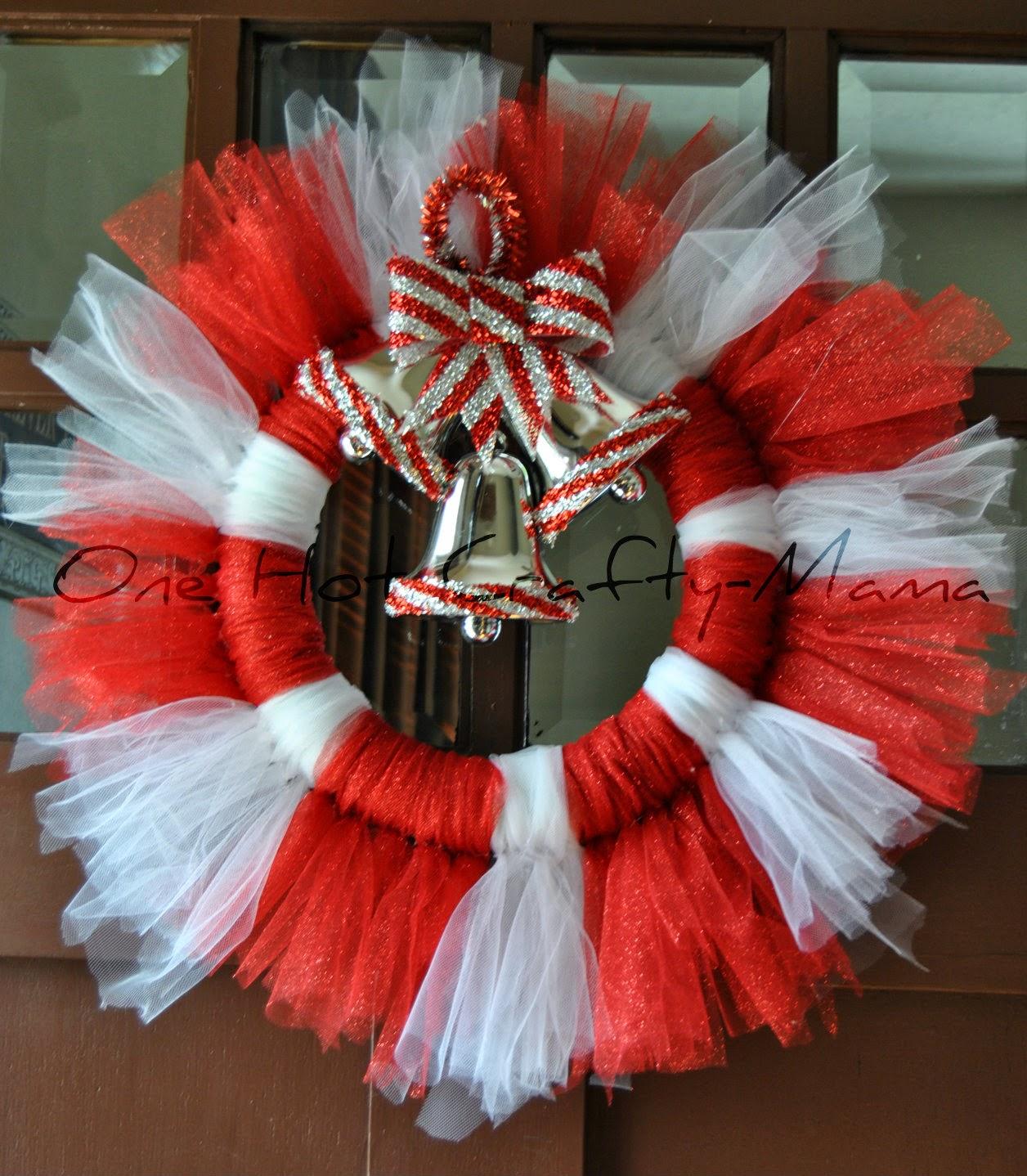 One Hot Crafty Momma Christmas Wreath