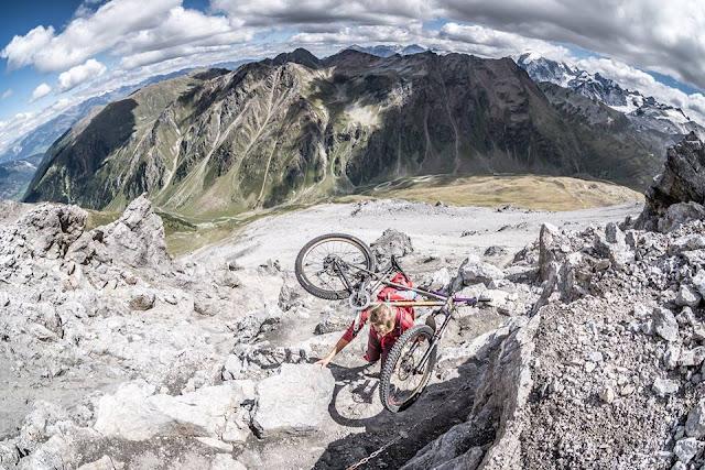 Aufstieg Piz Umbrail Mountainbike