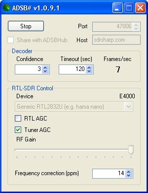 Diario Radio: Ricezione traffico aereo con ADSB Sharp + Virtual Radar