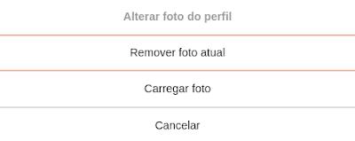 Excluir foto de perfil pelo computador