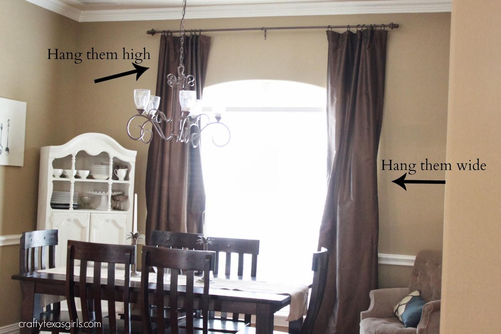 how high to hang curtain rods above window