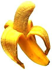 Foto de plátano pelado