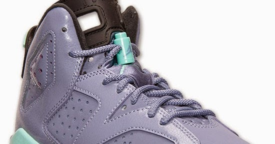 d733ba0d3a6b ajordanxi Your  1 Source For Sneaker Release Dates  Girl s Air Jordan 6  Retro GS Iron Purple Bleached Turquoise-Black Release Reminder