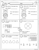 Free Fraction Worksheet to use for an assessment