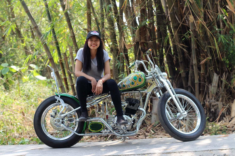 Motor Custom Honda Tiger Chopper