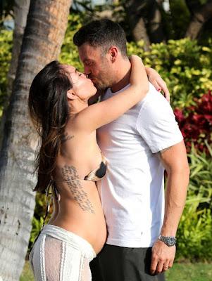 Megan Fox Damn Hot in Lacy Lingerie on Sofa   Megan Fox Pregnant Belly
