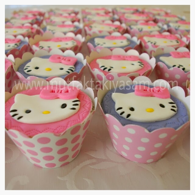 hello kitty cupcake hello kitty pasta hello kitty kurabiye