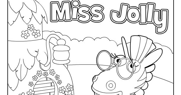 Miss jolly para colorear y pintar dibujo views for Jungle junction coloring pages